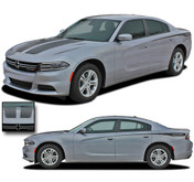 2015, 2016, 2017, 2018, 2019, 2020 RECHARGE 2 COMBO : Hood and Rear Quarter Panel Sides Vinyl Graphic, Decals, and Stripe Kit for Dodge Charger (PDS3311)