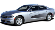 2015, 2016, 2017, 2018, 2019, 2020 VANISH : Screen Print Fade Style Side Vinyl Graphic, Decals, and Stripe Kit for Dodge Charger (PDS3316)