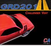 2008-2014 Dodge Challenger Vent Stripe Kit (M-GRD201)