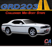2008-2015 Dodge Challenger Lower Body Stripe Kit (M-GRD203-366)