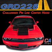 2015-2018 Dodge Challenger Pin Line Center Hood Vinyl Stripe Kit (M-GRD228)