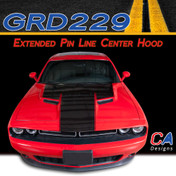 2015-2018 Dodge Challenger Extended Pin Line Center Hood Vinyl Stripe Kit (M-GRD229)
