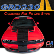 2015-2018 Dodge Challenger Full Pin Line Center Vinyl Stripe Kit (M-GRD230)