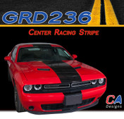 2015-2018 Dodge Challenger Center Racing Vinyl Stripe Kit (M-GRD236)