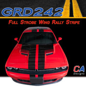 2015-2018 Dodge Challenger Full Strobe Wing Rally Vinyl Stripe Kit (M-GRD242)