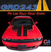 2015-2018 Dodge Challenger Pin Line Rally Hood Vinyl Stripe Kit (M-GRD243)