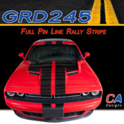 2015-2018 Dodge Challenger Full Pin Line Rally Vinyl Stripe Kit (M-GRD245)