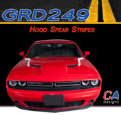 2015-2018 Dodge Challenger Hood Spears Vinyl Stripe Kit (M-GRD249)