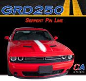 2015-2018 Dodge Challenger Serpent Pin Line Center Hood Vinyl Stripe Kit (M-GRD250)
