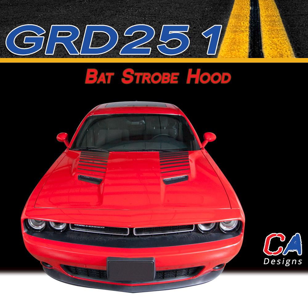 2015 2018 dodge challenger bat strobe hood vinyl stripe kit m grd251
