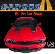 2015-2018 Dodge Challenger Bat Pin Line Hood Vinyl Stripe Kit (M-GRD252)