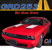 2015-2018 Dodge Challenger Bat Hood Vinyl Stripe Kit (M-GRD253)