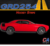 2015-2018 Dodge Challenger Hockey Stripe Vinyl Stripe Kit (M-GRD254)