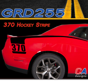 2015-2018 Dodge Challenger 370 Hockey Stripe Vinyl Stripe Kit (M-GRD255)