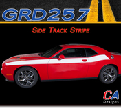 2015-2018 Dodge Challenger Side Track Stripe Vinyl Stripe Kit (M-GRD257)