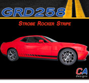 2015-2018 Dodge Challenger Strobe Lower Rocker Stripe Vinyl Stripe Kit (M-GRD258)