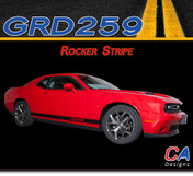 2015-2018 Dodge Challenger Lower Rocker Stripe Vinyl Stripe Kit (M-GRD259)
