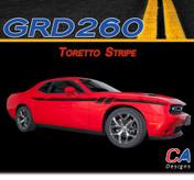 2015-2018 Dodge Challenger Toretto Stripe Vinyl Stripe Kit (M-GRD260)