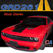 2015-2018 Dodge Challenger Hood Center Vinyl Stripe Kit (M-GRD261)