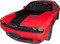 2015-2018 Dodge Challenger Extended Hood Center Vinyl Stripe Kit (M-GRD262)