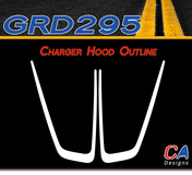 2011-2014 Dodge Charger Hood Outline Vinyl Stripe Kit (M-GRD295)
