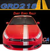 2013-2015 Dodge Dart Euro Rally Vinyl Stripe Kit (M-GRD218)