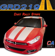 2013-2015 Dodge Dart Dual Rally Vinyl Stripe Kit (M-GRD219)