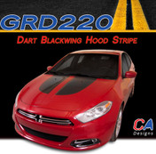 2013-2015 Dodge Dart Blackwing Hood Vinyl Stripe Kit (M-GRD220)