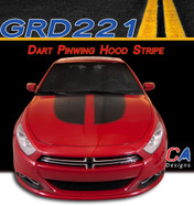 2013-2015 Dodge Dart Pinwing Hood Vinyl Stripe Kit (M-GRD221)