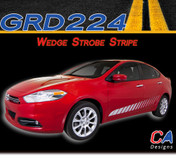 2013-2015 Dodge Dart Wedge Strobe Side Vinyl Stripe Kit (M-GRD224)