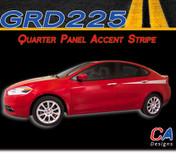 2013-2015 Dodge Dart Quarter Panel Accent Side Vinyl Stripe Kit (M-GRD225)