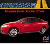 2013-2015 Dodge Dart Quarter Panel Accent Side Vinyl Stripe Kit (M-GRD225)