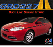 2013-2015 Dodge Dart Body Line Strobe Side Vinyl Stripe Kit (M-GRD227)