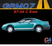 1997-2004 Ford Mustang C Stripe Side Vinyl Stripe Kit (M-GRM07)