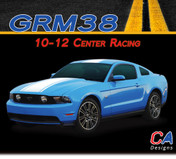 2010-2012 Ford Mustang Center Racing Stripe Vinyl Stripe Kit (M-GRM38)