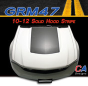 2010-2012 Ford Mustang Solid Hood Vinyl Stripe Kit (M-GRM47)