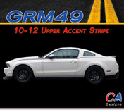2010-2012 Ford Mustang Upper Accent Side Vinyl Stripe Kit (M-GRM49)