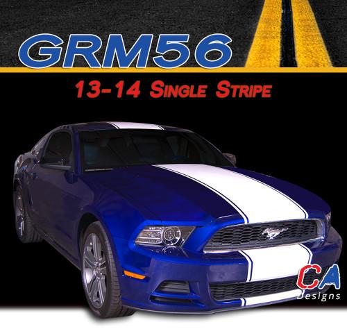 2013-2014 Ford Mustang Single Vinyl Stripe Kit (M-GRM56)