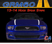 2013-2014 Ford Mustang Hood Spear Vinyl Stripe Kit (M-GRM60)