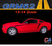 2013-2014 Ford Mustang Quaver Side Vinyl Stripe Kit (M-GRM62)