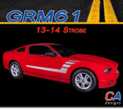 2013-2014 Ford Mustang Strobe Side Vinyl Stripe Kit (M-GRM61)