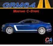 2015-2016 Ford Mustang C-Stripe Side Vinyl Stripe Kit (M-GRM64)