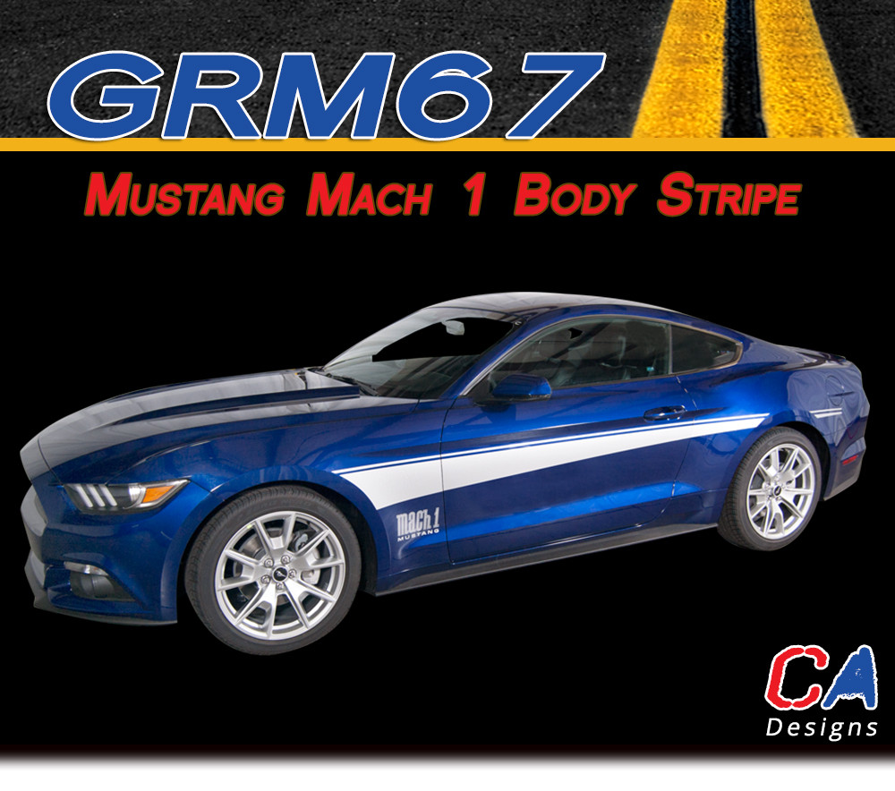 2015 Mustang Mach 1 >> 2015 2016 Ford Mustang Mach 1 Body Side Vinyl Stripe Kit