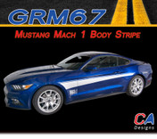 2015-2016 Ford Mustang Mach 1 Body Side Vinyl Stripe Kit (M-GRM67)
