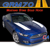 2015-2016 Ford Mustang Sting Solid Hood Vinyl Stripe Kit (M-GRM70)
