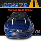 2015-2016 Ford Mustang Hood Spear Vinyl Stripe Kit (M-GRM73)