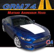2015-2016 Ford Mustang Aggressor Hood Vinyl Stripe Kit (M-GRM74)