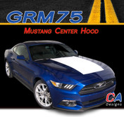 2015-2016 Ford Mustang Center Hood Vinyl Stripe Kit (M-GRM75)