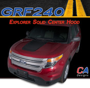 2011-2015 Ford Explorer Solid Center Hood Vinyl Stripe Kit (M-GRF240)