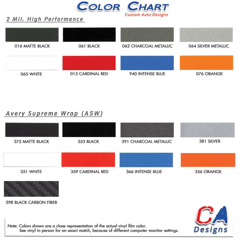 2015 Ford Explorer Color Chart >> 2011 2015 Ford Explorer Reactor Center Hood Vinyl Stripe Kit
